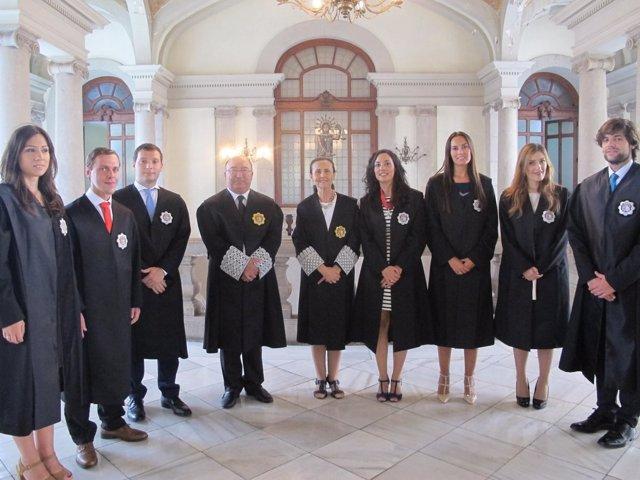 Los siete jueces que se incorporan a la Comunitat Valenciana juran su cargo