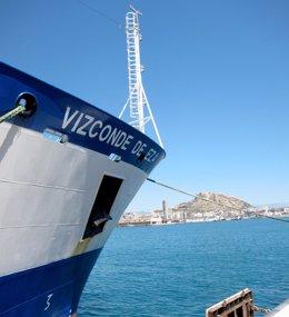 Buque Vizconde de Eza en Alicante