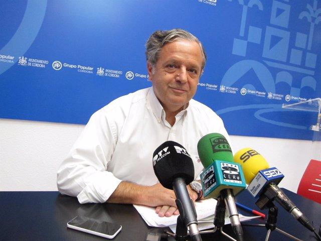 El viceportavoz del PP en el Ayuntamiento de Córdoba, Salvador Fuentes