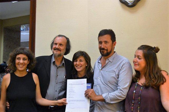 En Marea registra su petición de grupo parlamentario