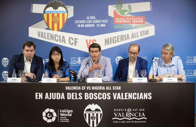 Ppresentación del partido solidario por los bosques valencianos