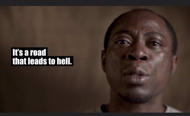 """Captura de vídeo de la campaña 'Aware Migrants"""""""