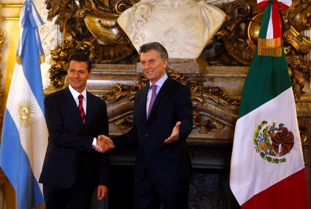 Peña Nieto y Macri durante el Foro Economía Argentina-México