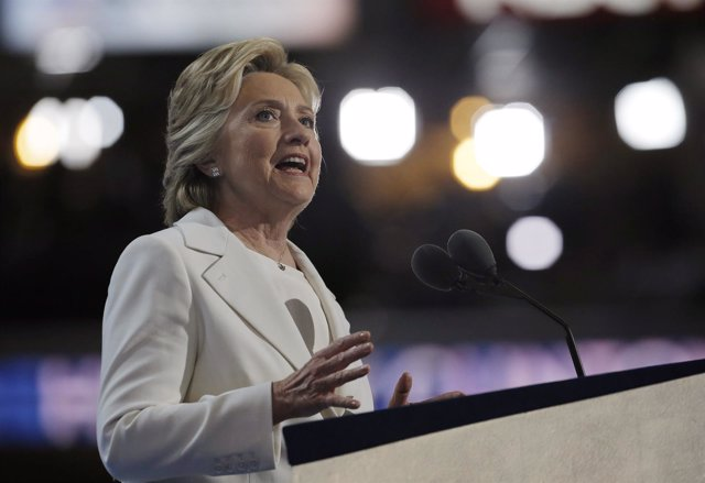 Hillary Clinton durante la Convención Democráta 2016
