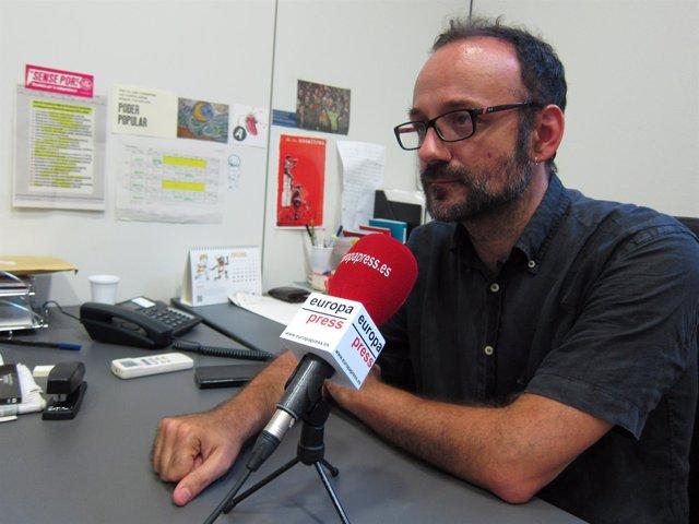Benet Salellas, diputado de la CUP, en una entrevista