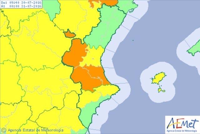 Alerta naranja y amarilla en Valencia y Alicante por altas temperaturas