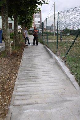 Nuevo paso peatonal de Marzaniella.