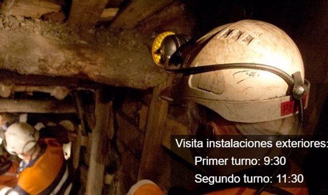 Foto promocional de las visitas al Sotón en la página de Hunosa.
