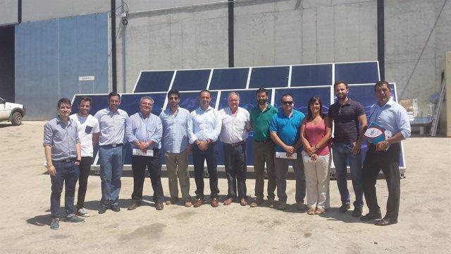 Visita del delegado de Agricultura de la Junta en Huelva a Campo de Tejada