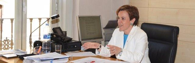 La portavoz del PSOE, Purificación Causapié