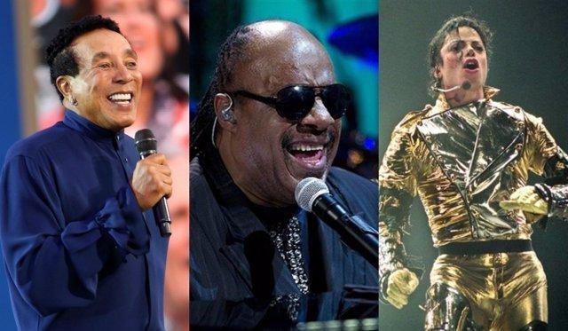 Smokey Robinson, Stevie Wonder y Michael Jackson