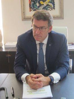 Feijóo, en una entrevista concedida a Europa Press