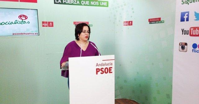 La portavoz del PSOE de Palos de la Frontera (Huelva)