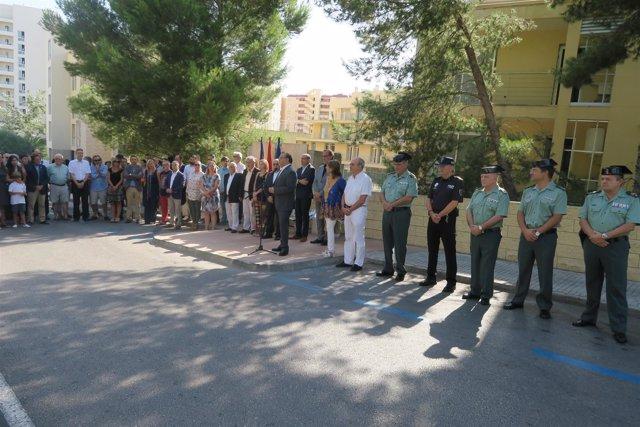 Acto de homenaje a los fallecidos en el atentado de 2009 en Palmanova