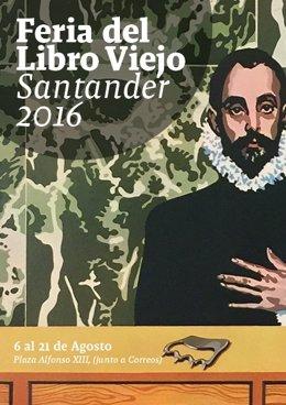 Cartel de la Feria del Libro Viejo de Santander