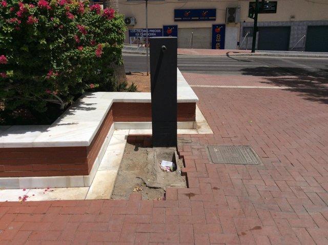 Fuente de agua en Almería