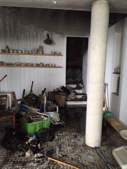 Incendio en un hostal de Vejer de la Frontera (Cádiz)