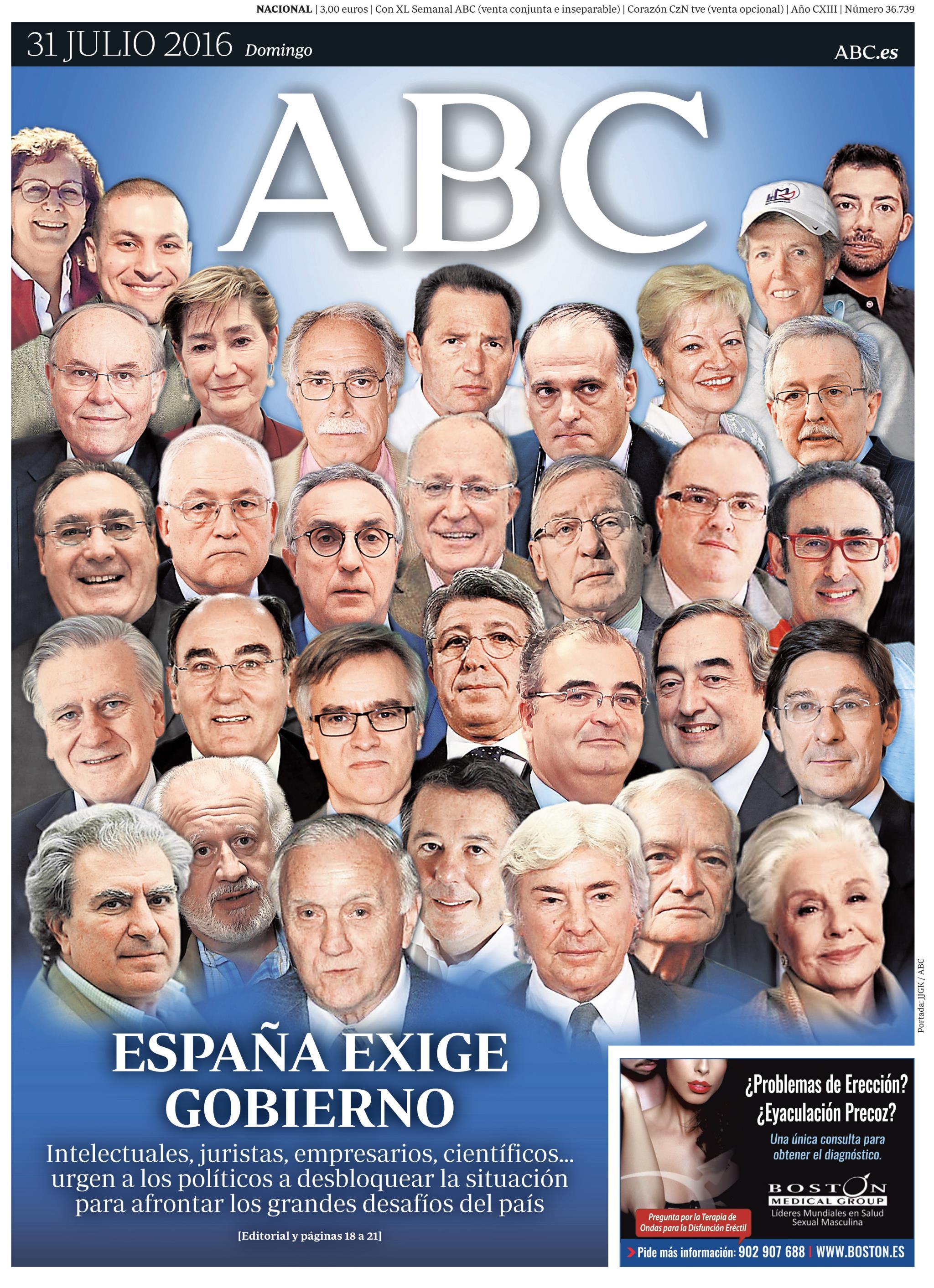 ABC portada 31 julio de 2016