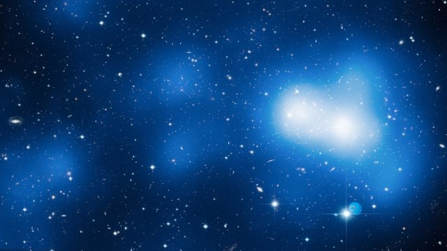 Visión del Gran Muro de Hércules-Corona Boreal sobre 18 imágenes del Hubble