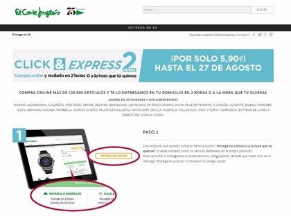 El Corte Inglés lleva sus rebajas a 'Click&Express' en agosto para retar a Amazon