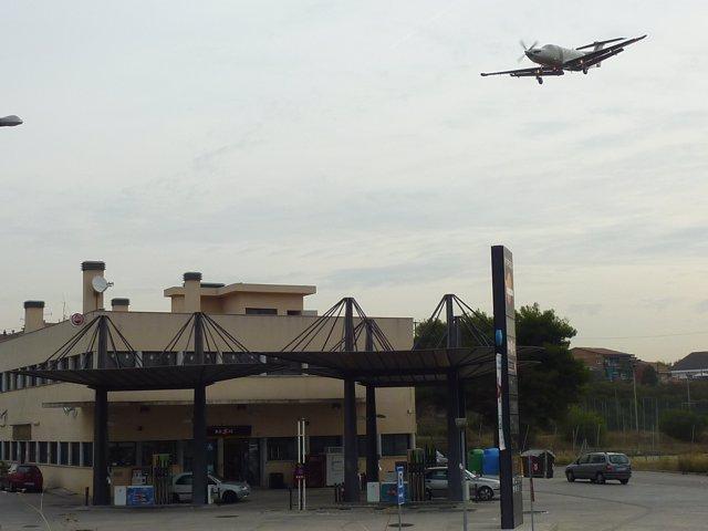 Un avión despegando del aeropuerto de Sabadell