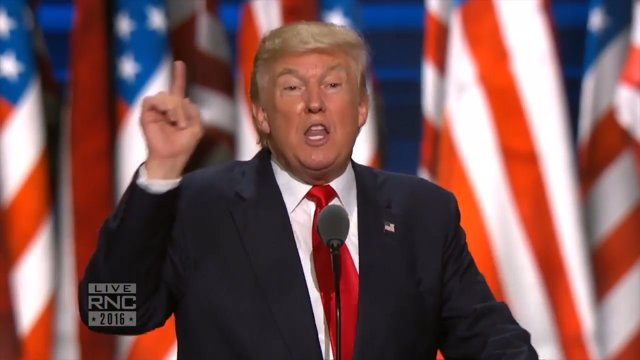 Trump apela a la seguridad en su discurso de nominación