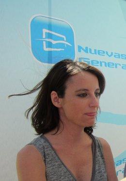 La dirigente del PP Andrea Levy, en un acto en Valladolid.