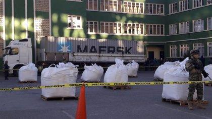 La Policía boliviana se incauta de 7,5 toneladas de cocaína