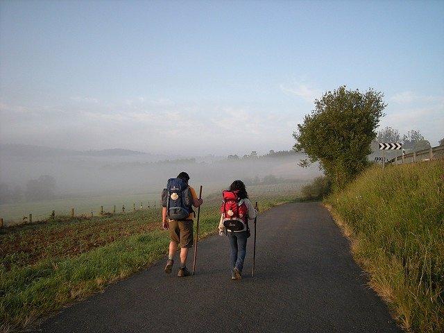 Peregrinos, camino de Santiago