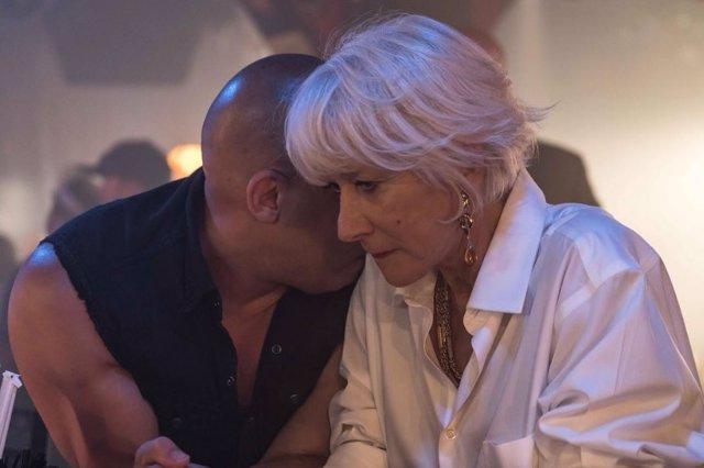 Vin Diesel y Helen Mirren en Fast 8