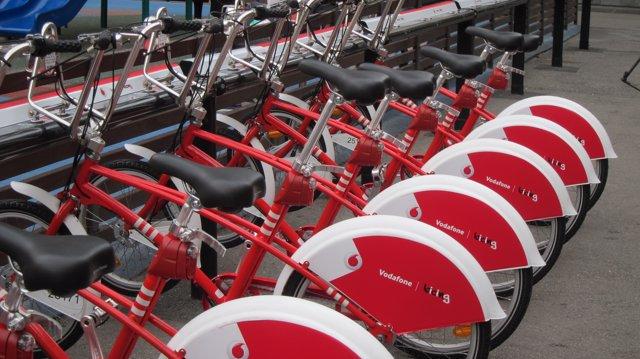 Bicicletas del Bicing, con el patrocinio de Vodafone