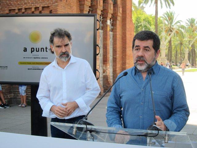 Jordi Cuixart (Òmnium) y Jordi Sànchez (ANC)