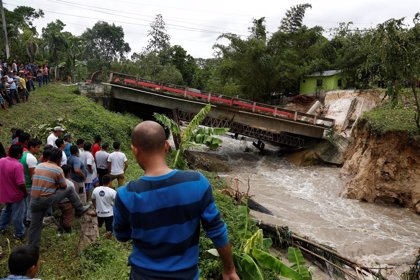 La tormenta Earl deja destrozos al norte de Guatemala