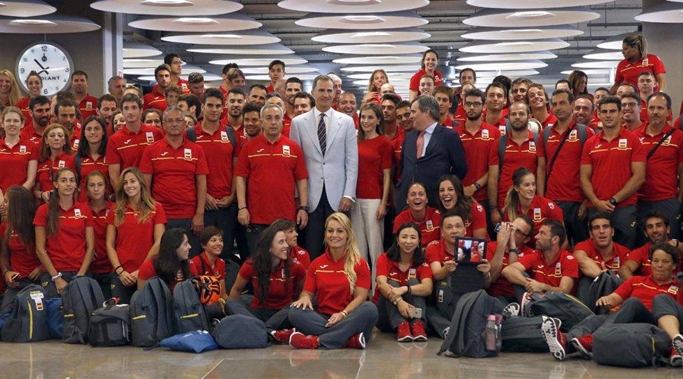 Los deportistas españoles en Río de Janeiro hacen visitas turísticas