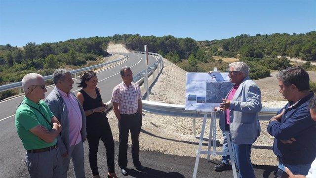 Sánchez Quero ha visitado este viernes las mejoras en esta carretera