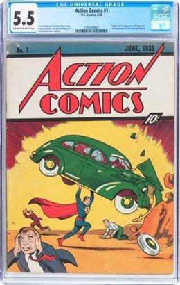Ejemplar del primer número del cómic de Superman