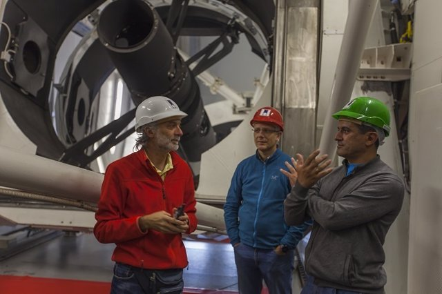Antonio Tabares en el Observatorio de Roque de los Muchachos