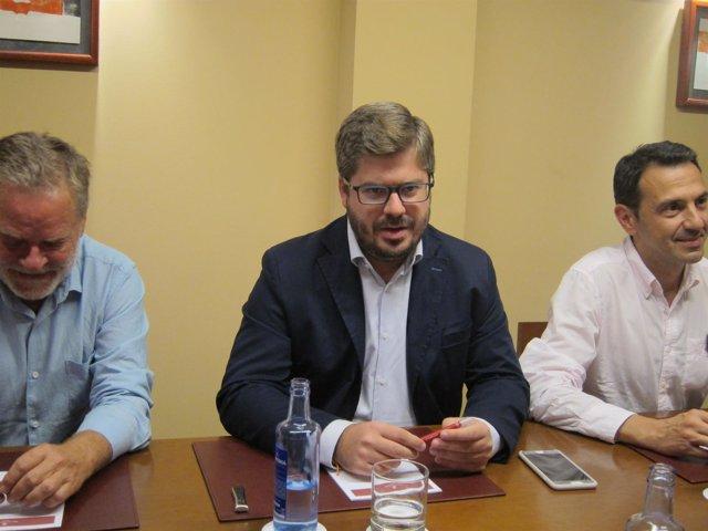 El secretario de Organización de C's, Fran Hervías, en Vigo