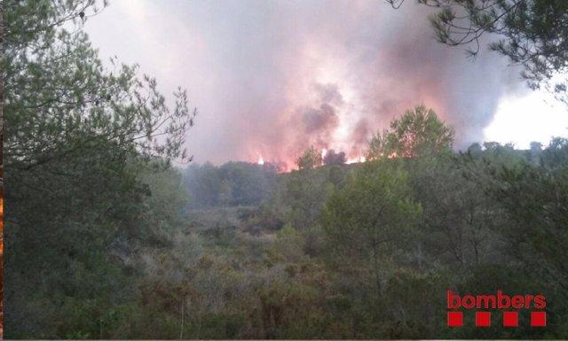 Incendio de Montornès