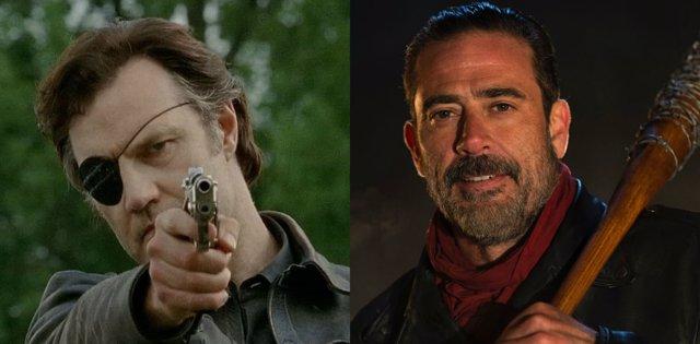 The Walking Dead Negan Vs El Gobernador 191 Qui 233 N Ganar 225