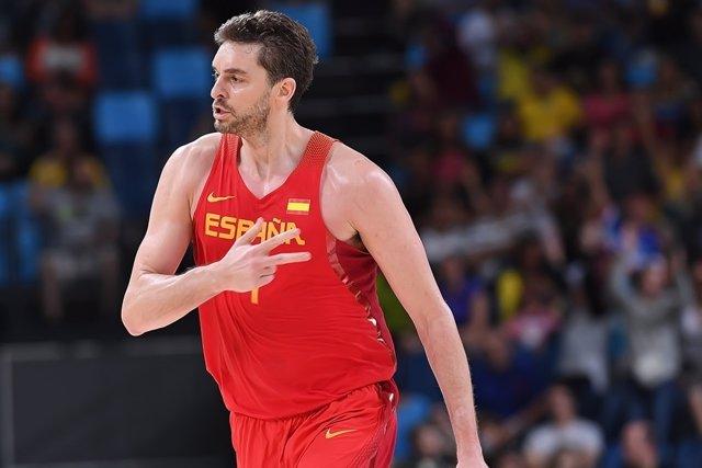 El Jugador De La Selección Española De Baloncesto Pau Gasol