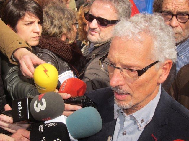 El juez Santi Vidal en una manifestación para apoyarle tras la suspensión CGPJ