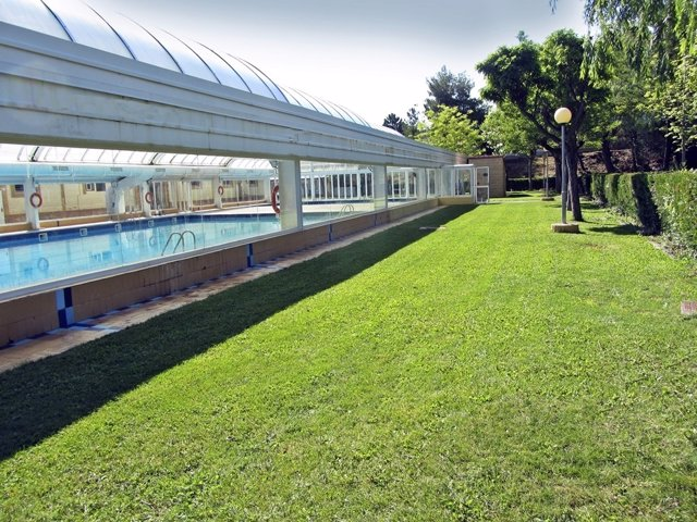 Recinto de las piscinas de Utrillas (Teruel)