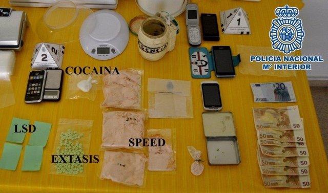 Droga intervenida en Huesca