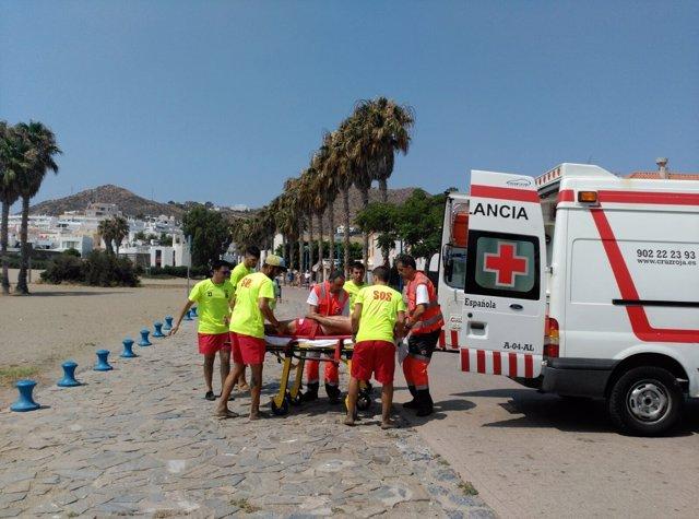 Mujer rescatada en Mónsul