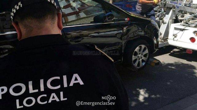 Imagen del vehículo del conductor detenido.