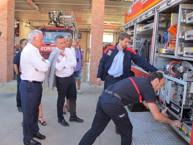 Ceniceros visita parques bomberos CEIS Arnedo y Calahorra