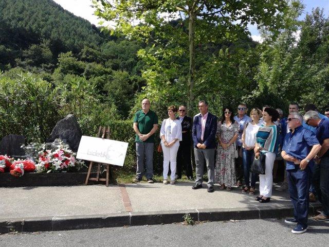 Homenaje a Joxe Mari Korta en Zumaia.