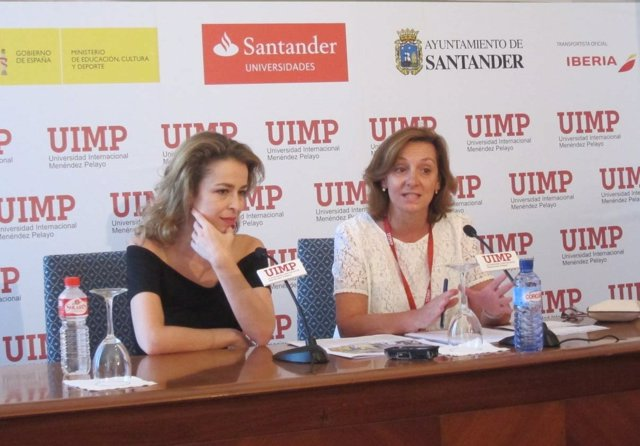 Rueda de prensa de Silvia Abascal en la UIMP