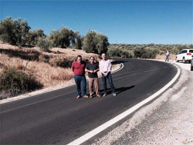 Visita a las obras realizadas en la carretera JA-3106.